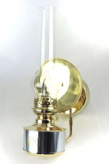 "#20 Matador Wall Fixture, Brass Steel Polished - 18"" Height"