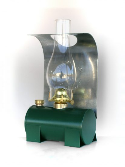 "#2529 Bunk Car Lamp, Green, 15"" Height"