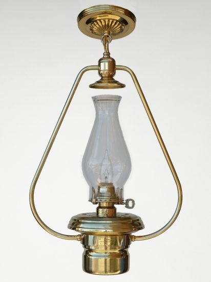 """#2 Brilliant, Polished Brass - 22"""" Height"""