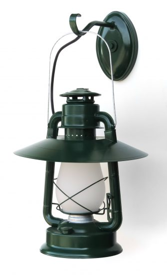 """#2 Champion, Hooded Reflector, Special Wall Mount, Green, Frosted Glass, - About 21"""" Tall"""