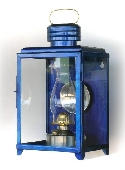 "#2 Climax Station Lamp, Blue - 18"" Height"