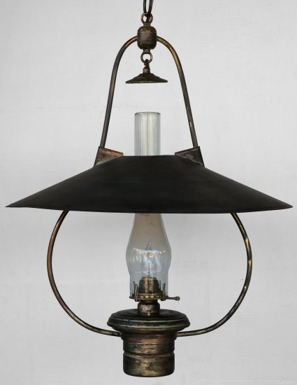 """#3 Brilliant Aged Brass - 22"""" Reflector - 30"""" Height"""