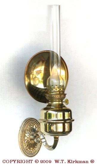 "Amie Wall Fixture with 6"" Brass Reflector, Polished Brass, 18"" Height"